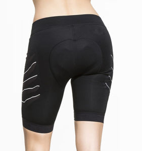 Women Ladies Custom Logo Compression Sports Gym Yoga and Running Short Pants pictures & photos