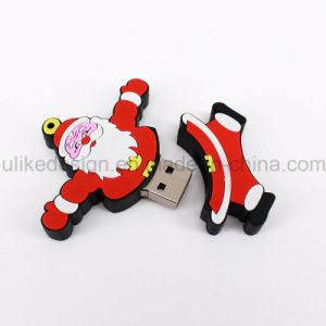 Merry Christmas Gift Promotion Day USB Flash Drive (UL-PVC031) pictures & photos