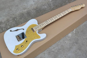 Hanhai Music/White Tele Style Electric Guitar with Gold Pickguard pictures & photos