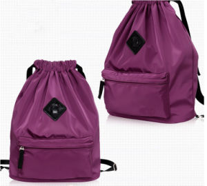 Promotion Water-Proof Nylon Drawstring Backpack Bag pictures & photos