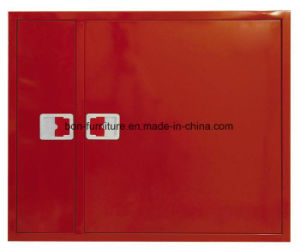 Fire Hose Reel Cabinet with Separate Compartment for Fire Extinguisher and Hose Reel pictures & photos