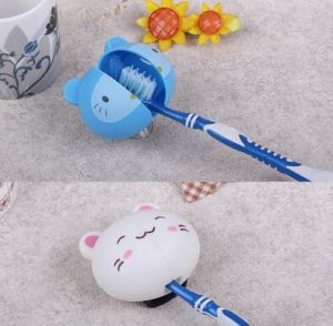 Various Cartoon Animal Head Toothbrush Holder with Suction pictures & photos