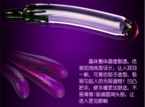 1 PCS/Lot Glistening Raindrop Glass Dildo, Eggplant Shaped Crystal Dildos, Vagina Anal Sex Toys Female Masturbation GS0200 pictures & photos