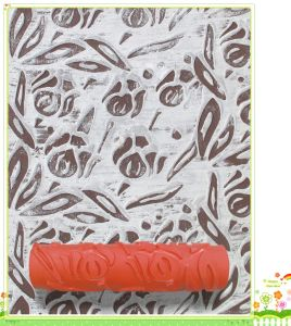 """9"""" Red Rubber Design Painting Pattern Roller pictures & photos"""