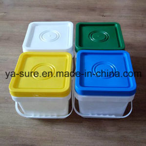 5L Food Grade Square Plastic Barrel with Handle pictures & photos