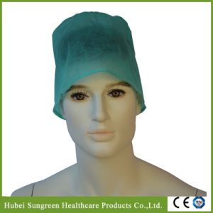 Disposable Non-Woven Surgical Cap with Ties pictures & photos