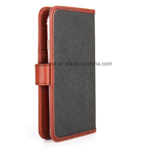 Leather Phone Case with Magnet Tab for iPhone/Samsung pictures & photos