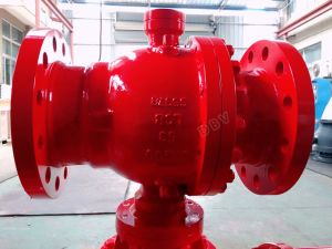 Pneumatic Pn63 Casting Steel Wcb RF Lcb Flanged Ball Valve pictures & photos