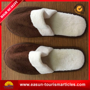 Hotel Slipper with Brown Color for Disposable Use pictures & photos