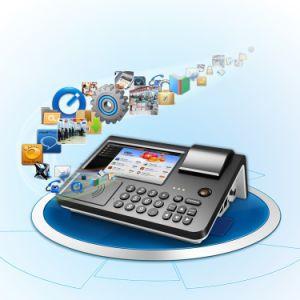 Zkc701 Restaurant Online Store Desktop POS with NFC RFID Printer pictures & photos