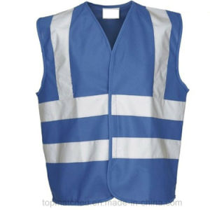 Police Roadwork Safety Vests Stock Blue Reflective Vest pictures & photos