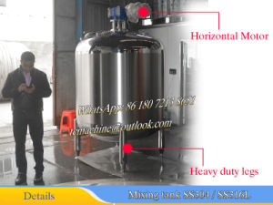 2000L Ss316L Single Wall Mixing Tank with Side and Bottom Sweep Agitator pictures & photos