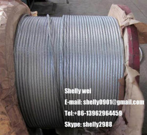 "1/4"", 9/32"", 3/8"", 7/16"", 1/2"", 9/16"", 5/8"" Galvanized Steel Wire Strand for Cable/Guy Wire/Stay Wire/Messenger/ACSR Conductor pictures & photos"