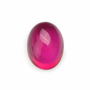 Hot Sale Blood Red Oval Cabochon Synthetic Ruby Gemstone pictures & photos