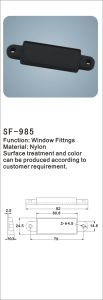 Nylon Window Fittings Hardware Accessories (SF-985) pictures & photos