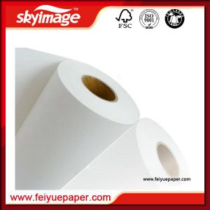 Anti-Curl 1.52m (60inch) Jumbo Roll 50GSM Sublimation Paper Roll Fast Dry Factory Supplier pictures & photos