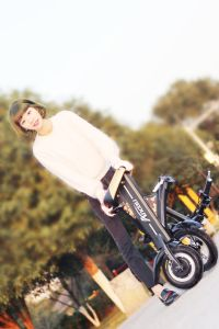 36V 250W Folding Electric Bicycle Electric Scooter Electric Motorcycle Folded Scooter pictures & photos