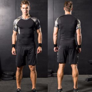 Cool Design Men′s Three-Piece Running Basketball Training Compression Tight Sportswear pictures & photos