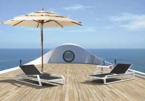 UV-Resistant Textilene Folding Outdoor Beach Chaise Lounger pictures & photos