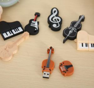 Musical Instruments Model USB Flash Violin/Piano/Guitar Pen Drive pictures & photos