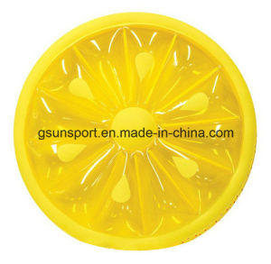 OEM Inflatable Swimming Pool Float Lemon Slice Float Customize