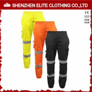 Custom Made Wholesale Black Orange Reflective Cotton Workwear Pants (ELTHVPI-21) pictures & photos