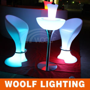 Modern LED Furniture Lighted Illuminated Bar Stool pictures & photos