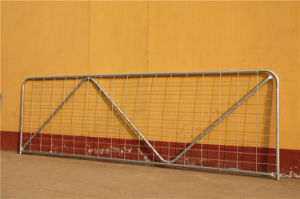 Galvanized Mesh Infilled 12FT Steel Farm Gate (XMS43) pictures & photos