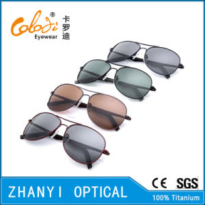 New Arrival Titanium Sunglass for Driving with Polaroid Lense (T3026-C4) pictures & photos