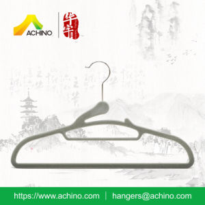 Non Slip Velvet Clothing Hanger (FS009) pictures & photos