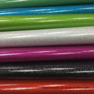 PVC Leather Shinny Crystal Vinyl for Handbag, Shoes, Jewley Box pictures & photos