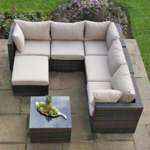 Hot Sell Indoor Outdoor Garden Patio Furniture Set Rattan Wicker Sofa pictures & photos