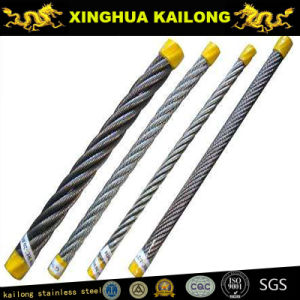 7X19; Dia.: 5.0mm; SUS316 Stainless Steel Wire Rope (1770mpa) pictures & photos