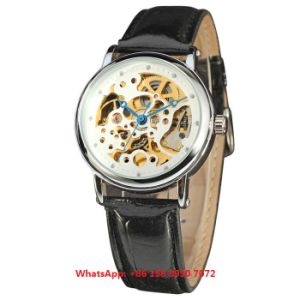 Excellent Popular Automatic Men′s Watches with Genuine Leather Strap Fs678 pictures & photos