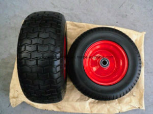 650-8 Rubber Flat Free PU Foam Wheel pictures & photos