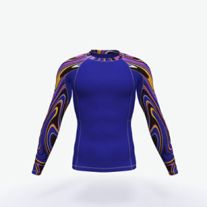 High Quality Custom Printed MMA Bjj Rash Guard pictures & photos