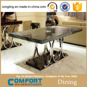 Luxury Design Marble Stainless Steel Metal Furniture pictures & photos