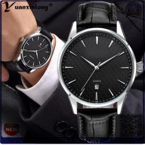 Yxl-447 Fashion Promotional Best Selling Quartz Wrist Men′s Watch Genuine Leather Calendar Date Hand Watches Men pictures & photos