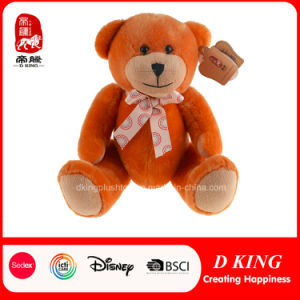 Orange Craft Plush Jointed Teddy Bears with Bow Supplier pictures & photos
