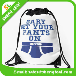 Wholesale Promotional Custom Printed Polyester Nylon Drawstring Bag pictures & photos