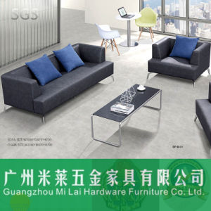Modern Leisure Sectional Leather Sofa with Metal Frame Leg pictures & photos