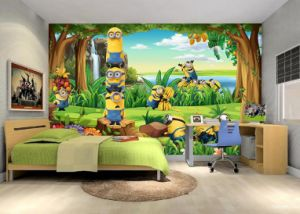 Custom Mural Wallpaper Cartoon Castle Children Room Bedroom Restaurant Non-Woven Background Wallpaper pictures & photos