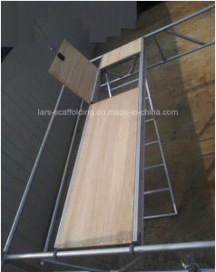 Scaffolding Aluminum / Plywood Plank with Trapdoor with Aluminum Ladder pictures & photos
