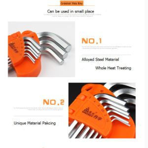 Metric Electro Plating Extension Cr-V Hex Wrench pictures & photos