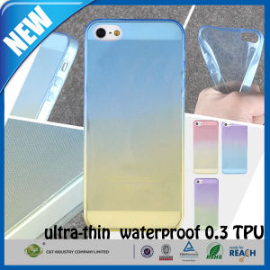 C&T 2015 New Rainbow Design 0.3mm Ultra Thin Slim Waterproof Crystal Clear Soft TPU Cover Case Skin for iPhone 5/5s pictures & photos