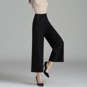Fashion Womens High Waist Winter Pants Ladies Wide Leg Pants pictures & photos