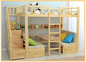 Nice Style Hot Selling Wooden Bunk Bed with Ladder Ark (M-X1034) pictures & photos