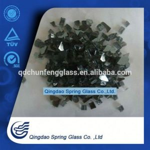 Crushed Black Glass for Fireplace Decoration, Factory Price pictures & photos