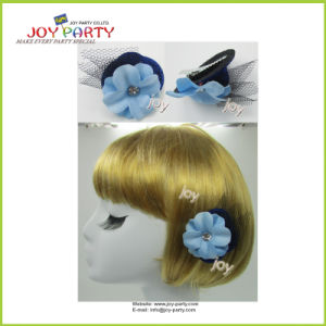 Light Blue Hair Accessories with Flower pictures & photos