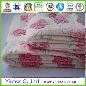 Embossed Printing Romatic Coral Fleece Blanket pictures & photos